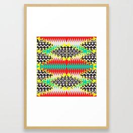 Tribal Beat Geo Neon Framed Art Print
