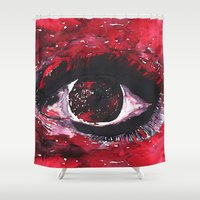 chaos Shower Curtains featuring chaos by echoes