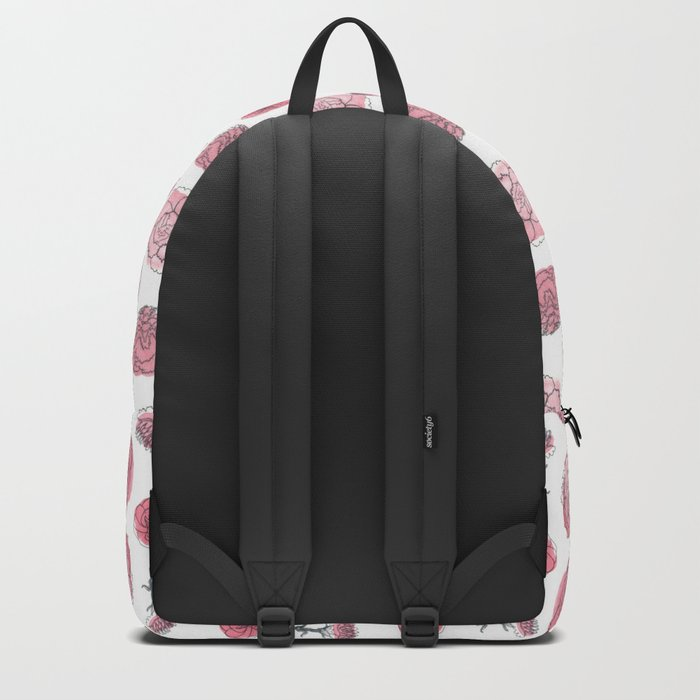 Pink Carnation Pattern Backpack