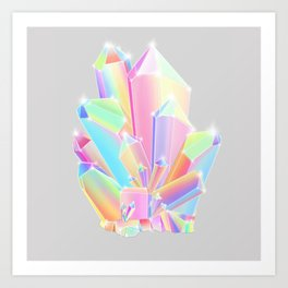 Crystal Cluster Art Print