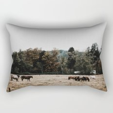 Horses Rectangular Pillow