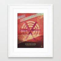 chvrches Framed Art Prints featuring Chvrches by Derek Brown