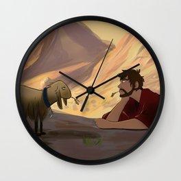 Through Heaven's Eyes Wall Clock