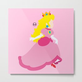 Princess Peach Deluxe Metal Print