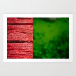Red/green Art Print