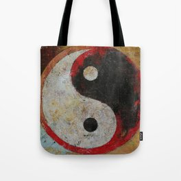 Yin Yang Dragon Tote Bag
