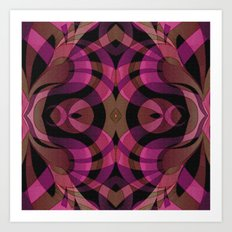 Floral Geometric Abstract G309 Art Print