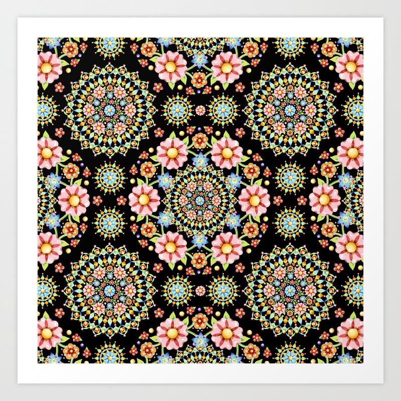 millefiori art prints society6
