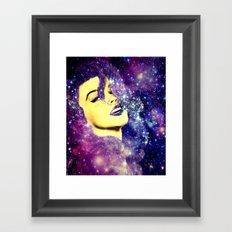 Baby, You're A Star : Purple Blue Galaxy Framed Art Print
