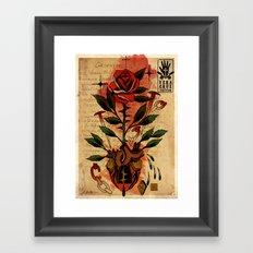 Hass Liebe  Framed Art Print