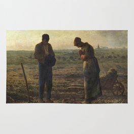 The Angelus by Jean Francois Millet Rug
