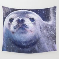 seal Wall Tapestries featuring Seal by Asya Solo