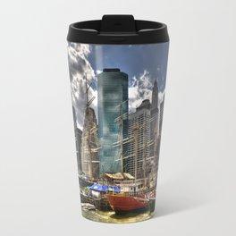 NYC Harbor, south seaport Travel Mug