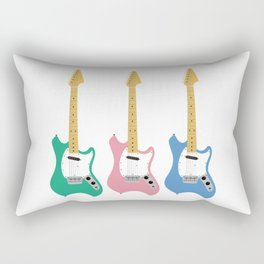 Strumming the guitar! Rectangular Pillow