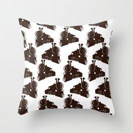 Locomotive pattern Throw Pillow