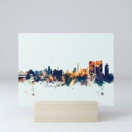 Calcutta Kolkata India Skyline Mini Art Print