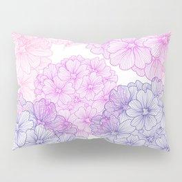Abstract Verbena Flowers Pillow Sham