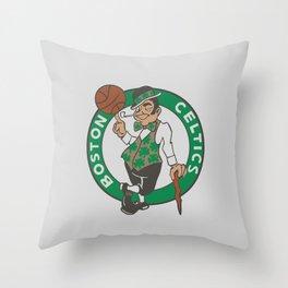 Boston Celstics Logo Throw Pillow
