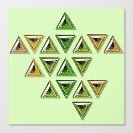 Earth Tones Gradient Trillion Gemstones Canvas Print