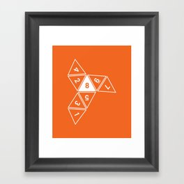 Unrolled D8 Framed Art Print