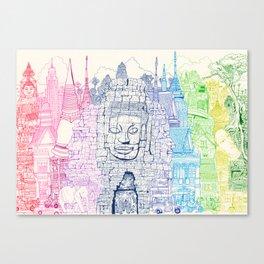 Angkor Wat & Thailand Canvas Print