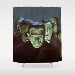 Famous Monsters Gang Shower Curtain