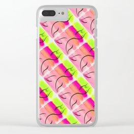 Brushstroke Mermaid Clear iPhone Case