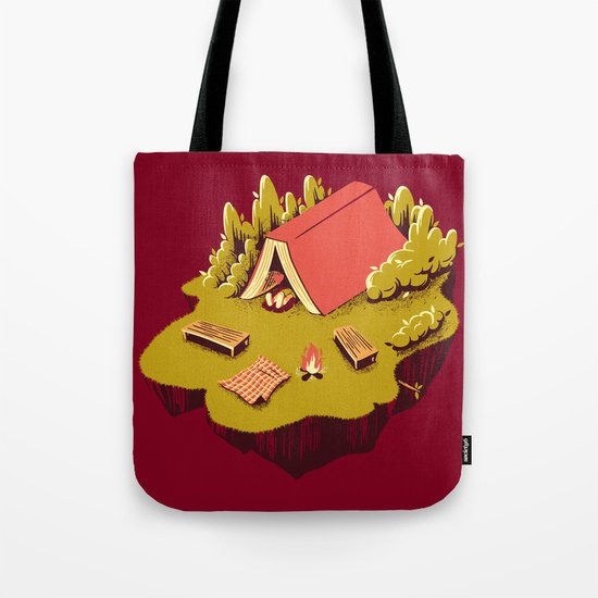 The Best Vacation Reading Book Camping Tote Bag