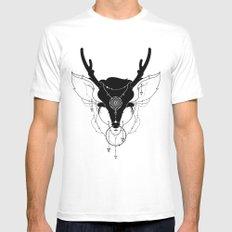 Deer Mens Fitted Tee MEDIUM White