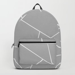 Gray White Geometric Glam #1 #geo #decor #art #society6 Backpack
