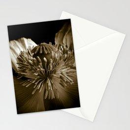 Sepia Poppy Portrait Stationery Cards