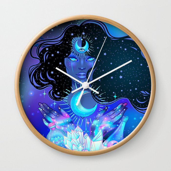 Nocturnal Goddess Wall Clock