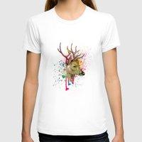 deer T-shirts featuring deer by mark ashkenazi