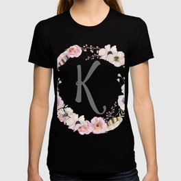 Floral Wreath - K T-shirt
