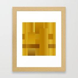 Gold paths Framed Art Print