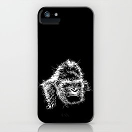 Gorilla head, Monkey, monkey head, great ape, gift iPhone Case