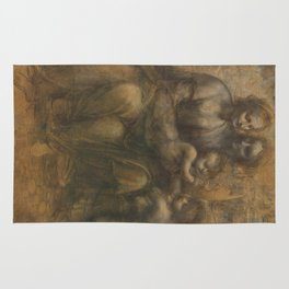 The Virgin and Child with St Anne and St John the Baptist by Leonardo da Vinci Rug