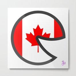 Canada Smile Metal Print