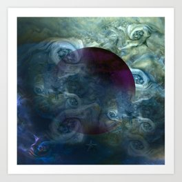 """Blue clouds on Saturn"" Art Print"