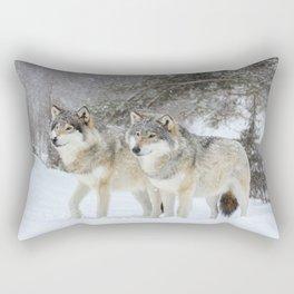 Wolf Brothers Rectangular Pillow