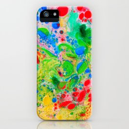 Marbling 4, Tie Dye Effect Abstract Pattern iPhone Case