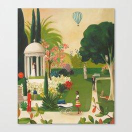 A Fainting In The Botanical Gardens Canvas Print