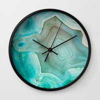 agate Wall Clocks featuring THE BEAUTY OF MINERALS 2 by Catspaws