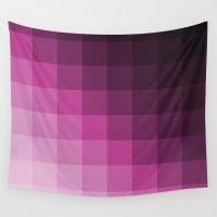 gradient Wall Tapestries featuring Pixel Gradient by Matt Borchert