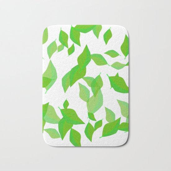 Leaves of spring Bath Mat