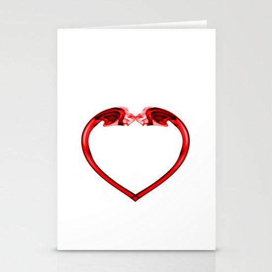 Love Smoke Red 2 Stationery Cards