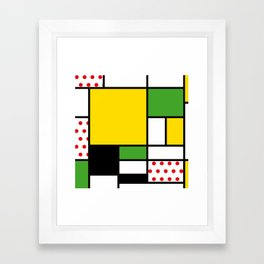 Mondrian – Bycicle Framed Art Print