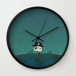 Small Pirate Captain Wall Clock