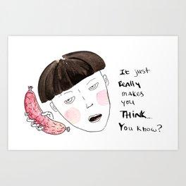 Sausage Girl 01 Art Print