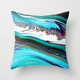 BlueWave Throw Pillow